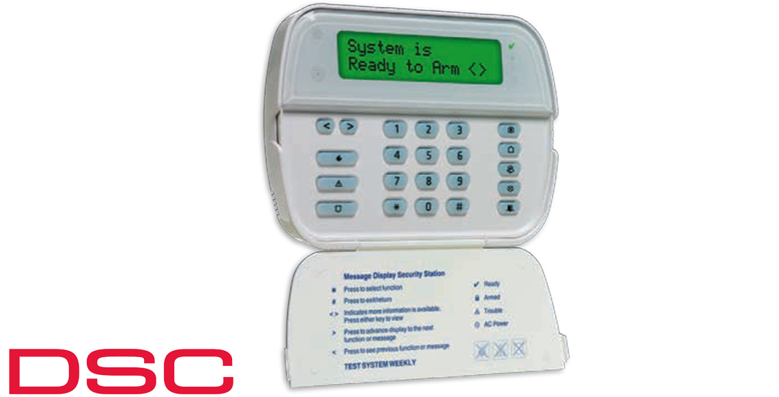 Power Series 64Zone LCD Full Message Keypad DSC