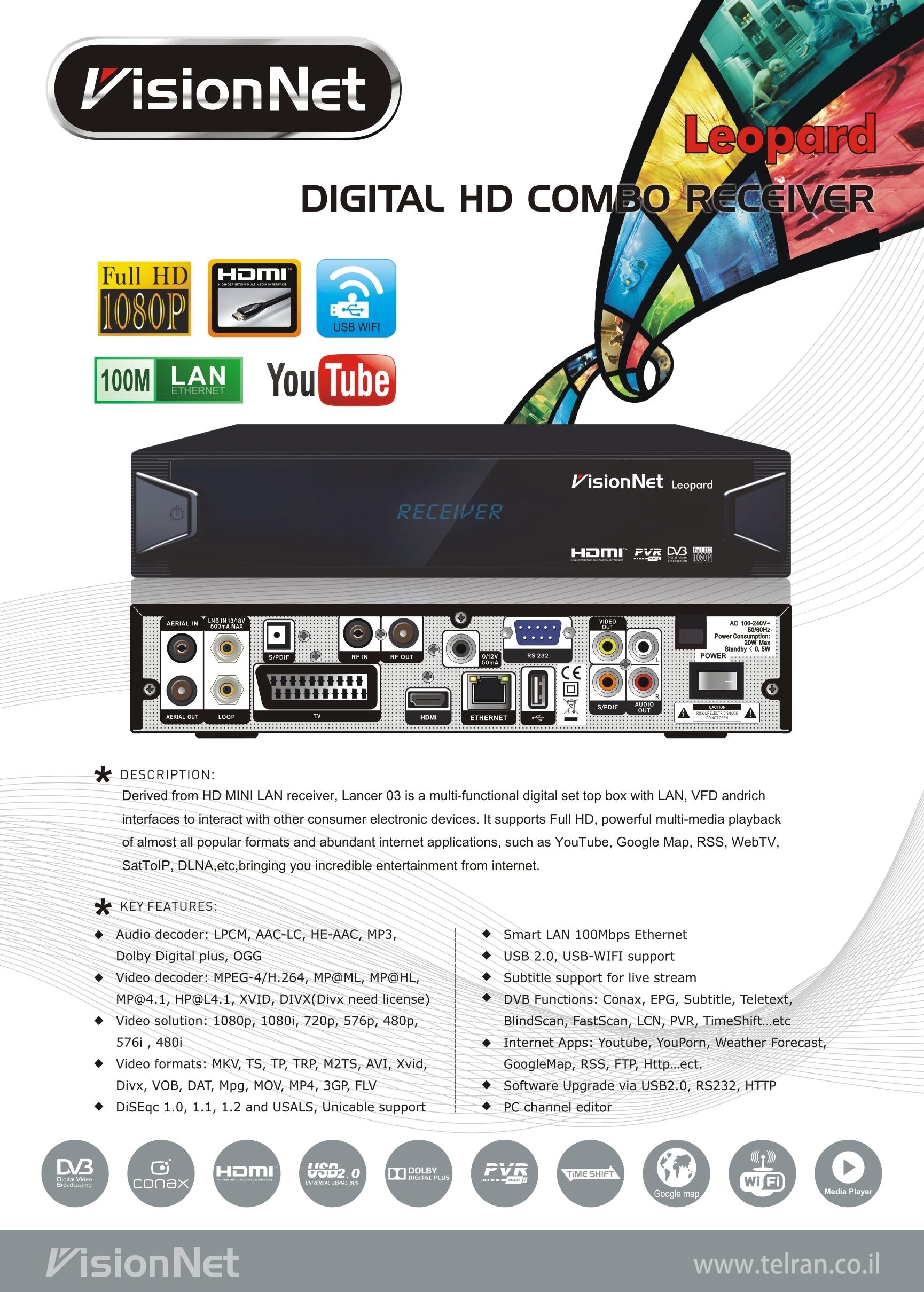 Leopard Digital HD Combo Receiver